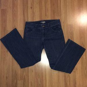 Cabi boot cut jean flap pocket style 638L size 8